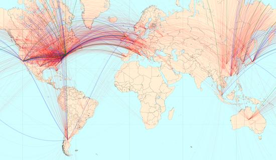 addgene-shipment-map-jan-2015
