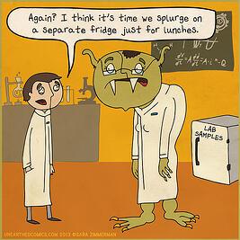 Unearthed Comics Sara Zimmerman Stop Sharing Fridges Science comics