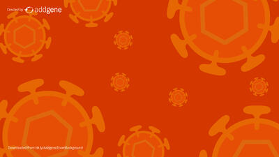 orange lentivirus background