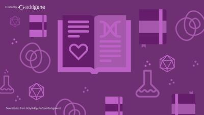 purple lab-themed background