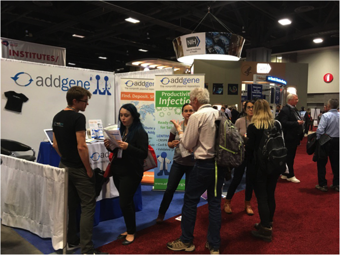 Addgene's booth at the Society for Neuroscience conference