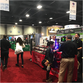 exhibit hall at the Society for Neuroscience conference
