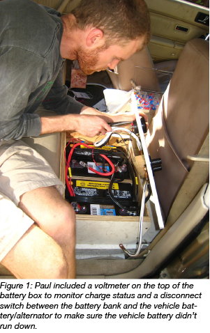 Adding volt meter to car battery Yellowstone sampling
