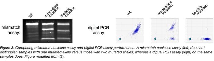 Mismatch Nuclease Assay vs Digital PCR