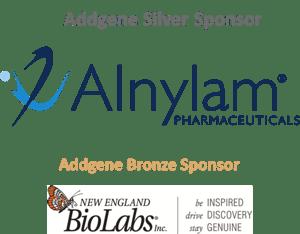 Viral Service Sponsor logos inckuding Alnylam and New England Biolabs