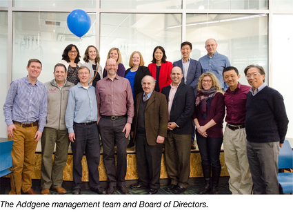 Addgene management and board of directors