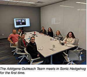 Addgene meeting in a conference room