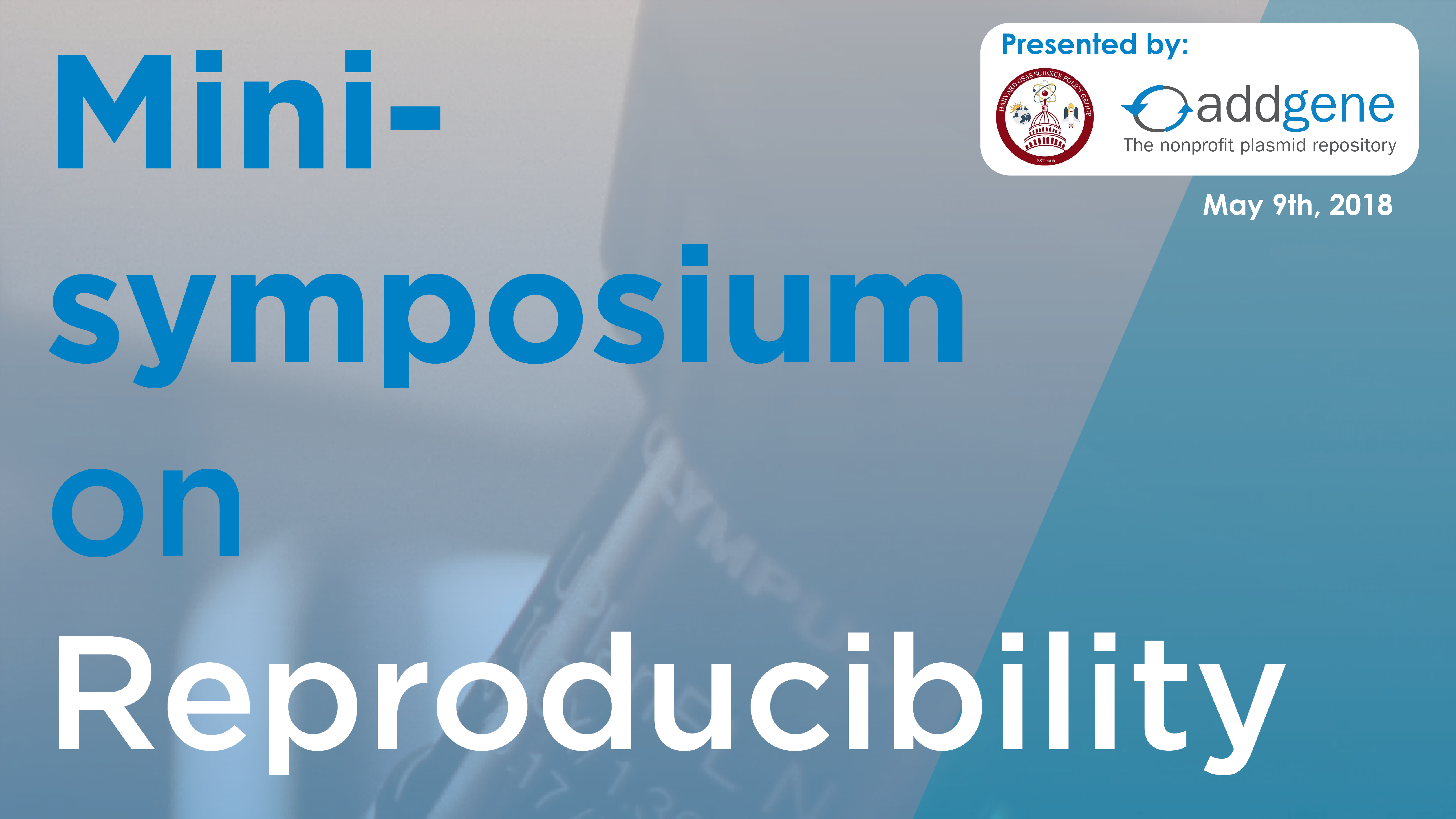 Minisymposium on Reproducibility Banner