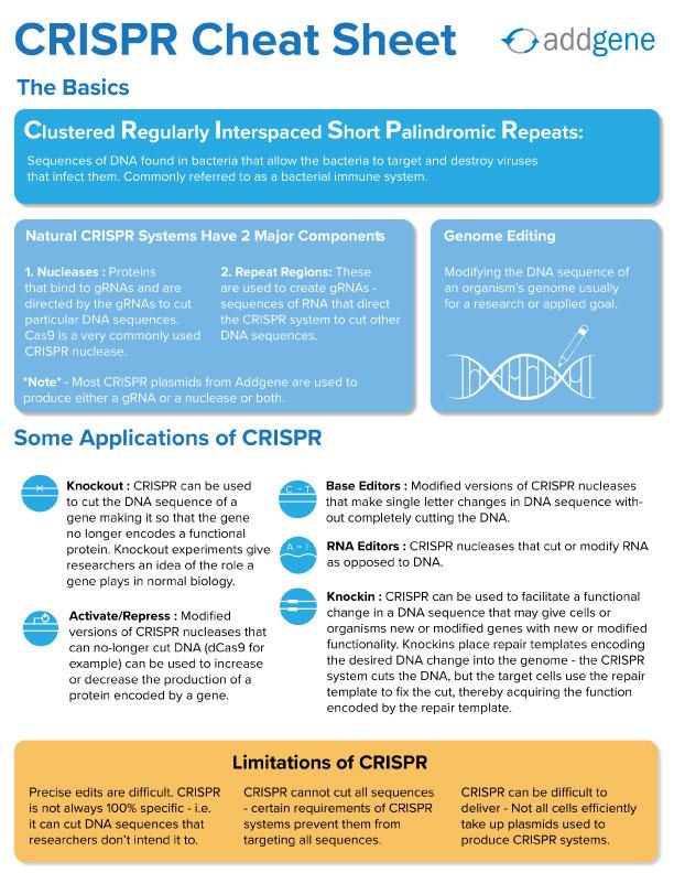 CRISPR Cheat Sheet