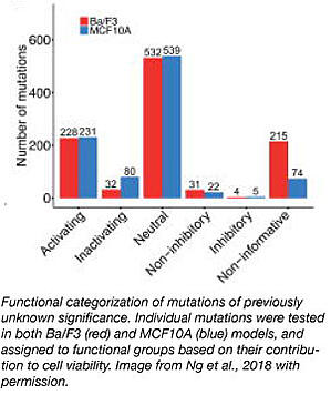 functional categorization of mutations of previously unknown significance