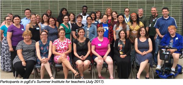 pgEd Teachers Summer Institute