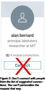 LinkedIn Connection option