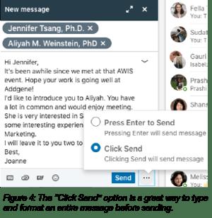 Sending message on LinkedIn
