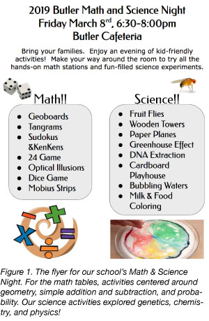 Math and Science night flyer