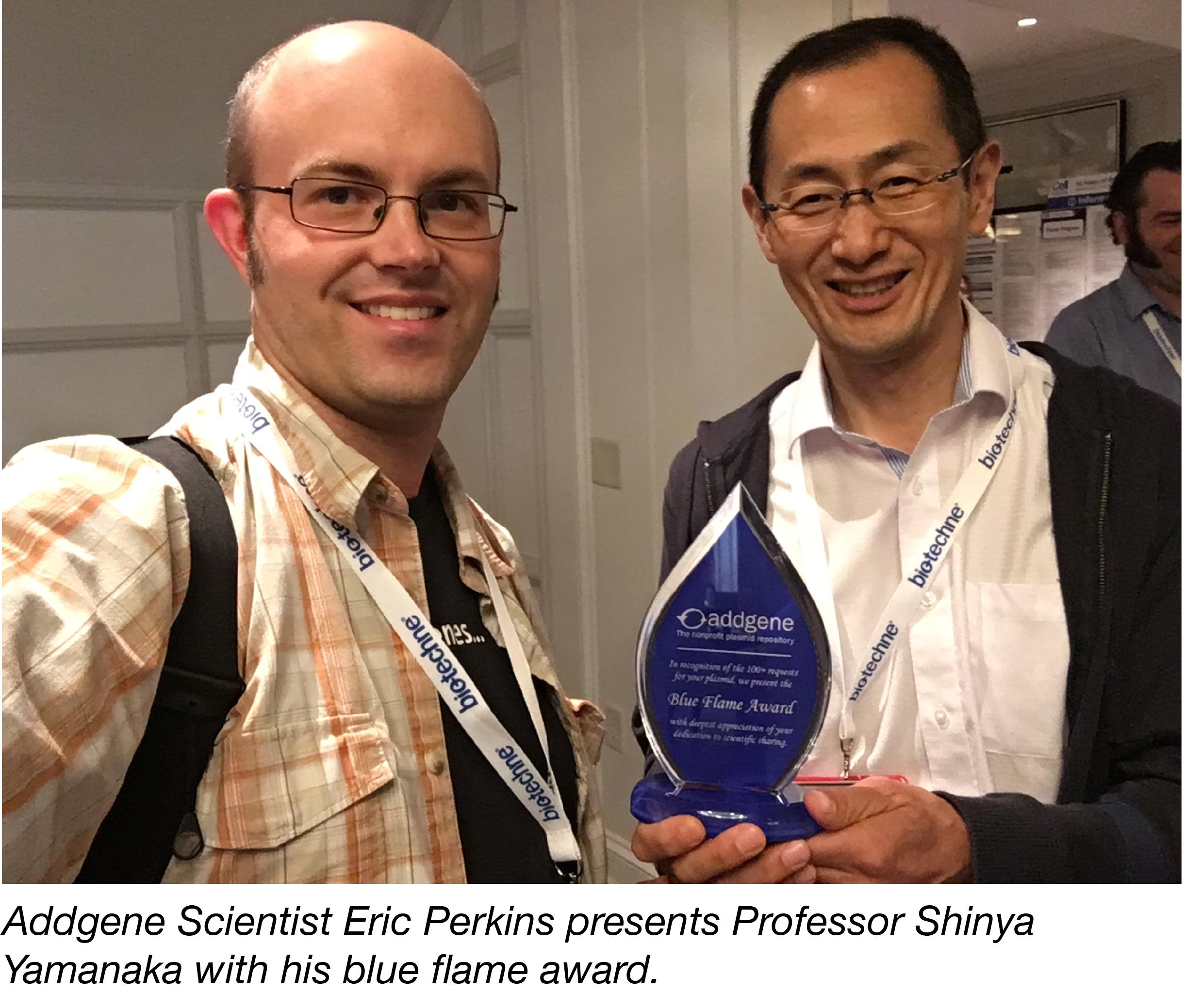 Eric with Shinya Yamanka