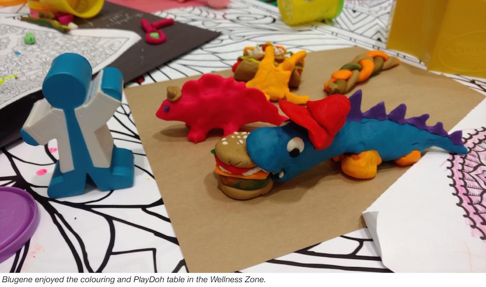 Bluegene makes play-doh sculptures at ASM Microbe 2016