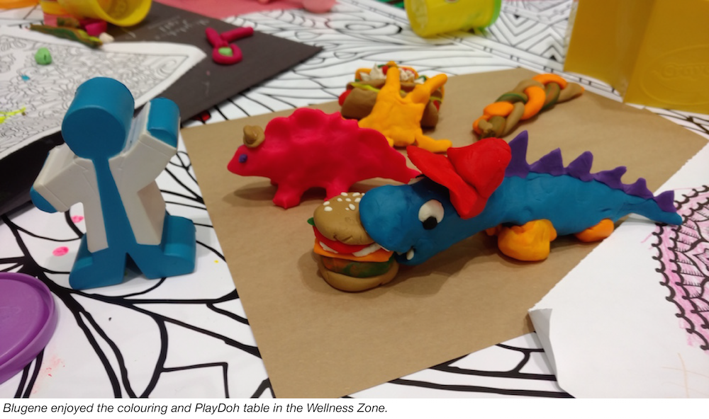 Bluegene makes play-doh sculptures at ASM Microbe 2016