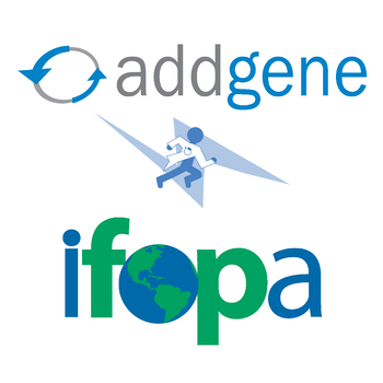 Addgene and IFOPA logo