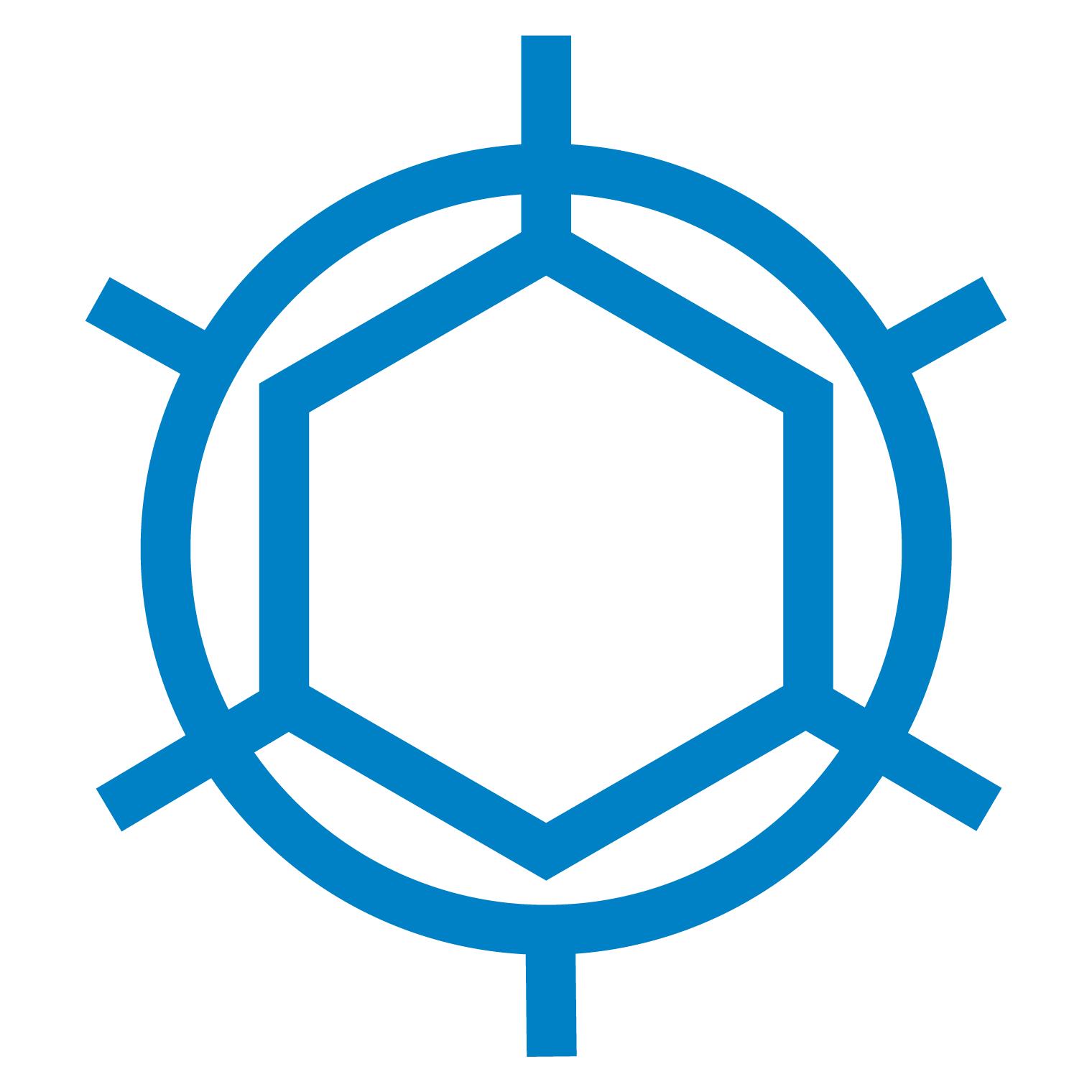 Blue Virus Icon