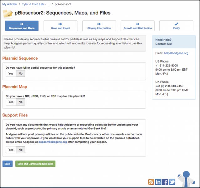 pBiosensor2 plasmid info