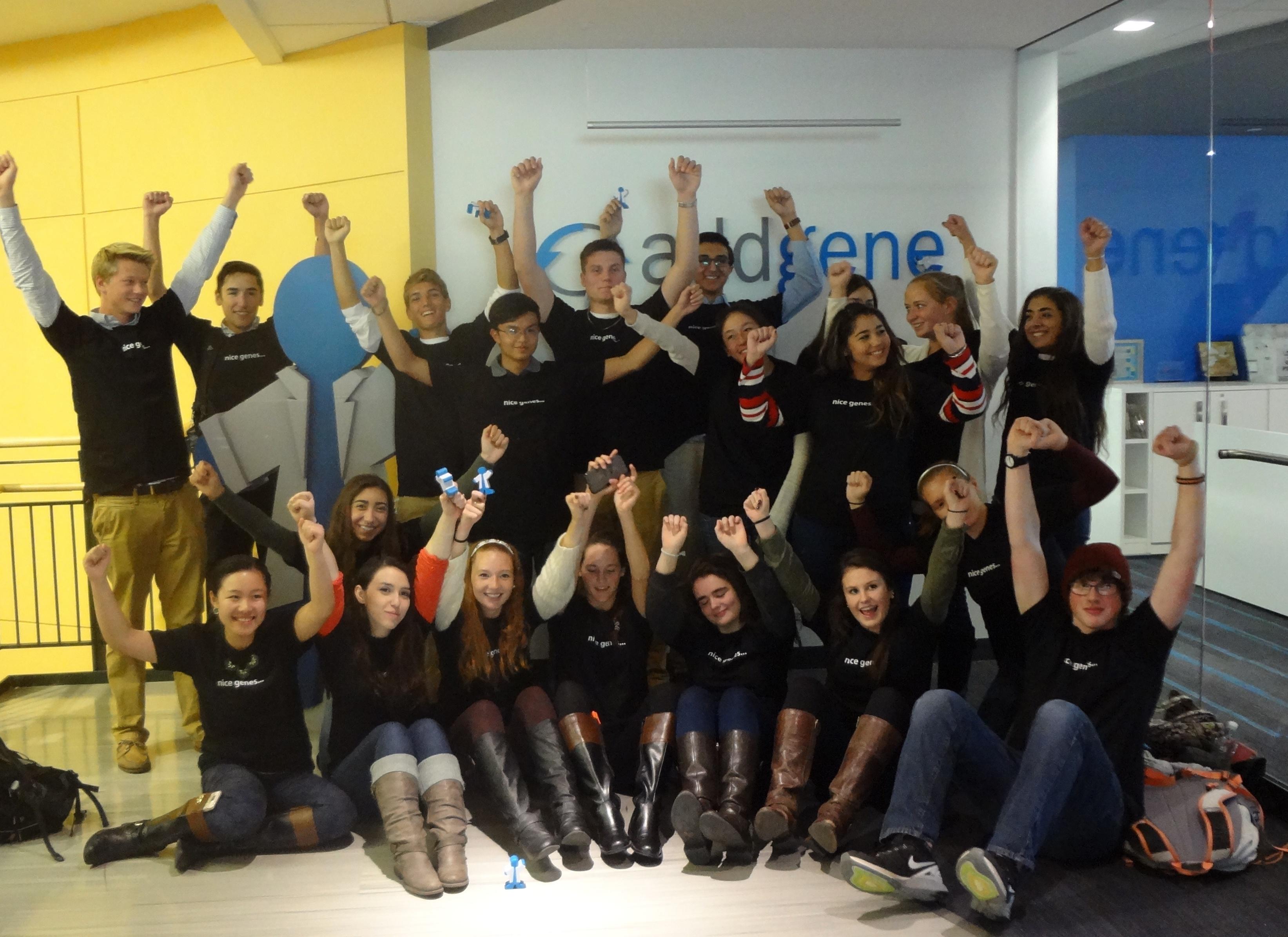 MassBioEd Students posing with Bluegene