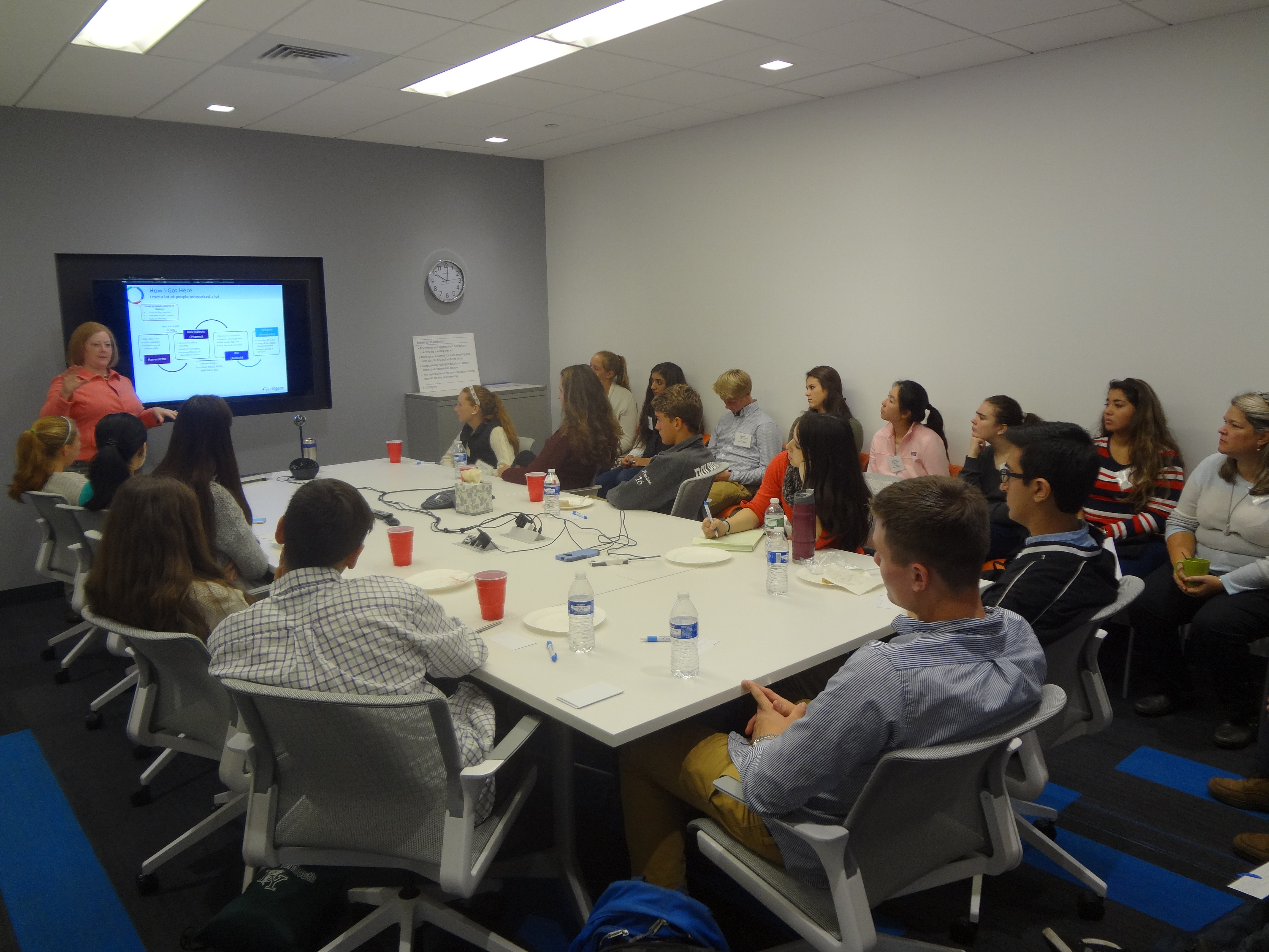 Addgene Executive Director Joanne Kamens teaches MassBioEd students about careers and networking