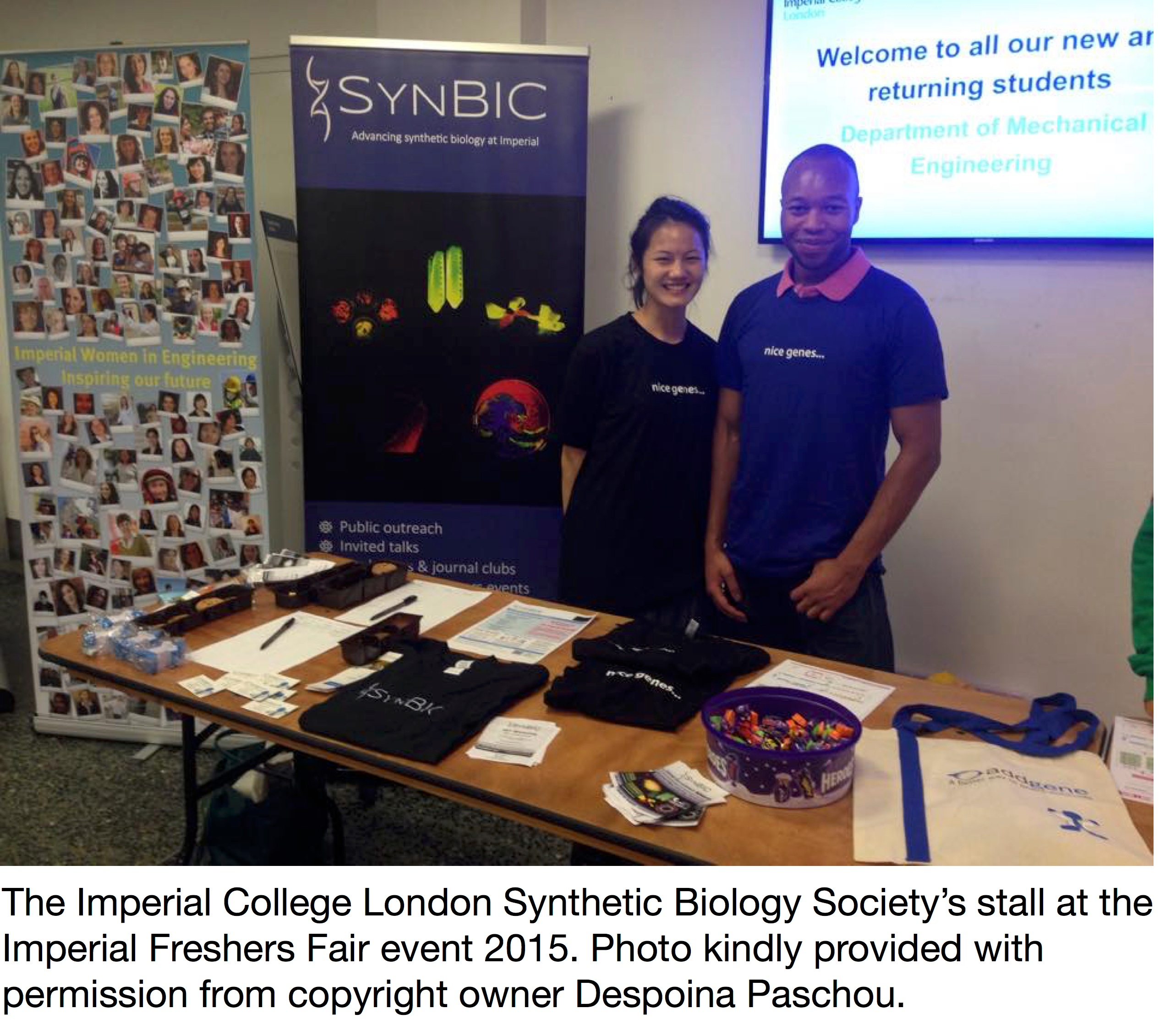 Imperial College London Synthetic Biology Society at a Freshers Fair