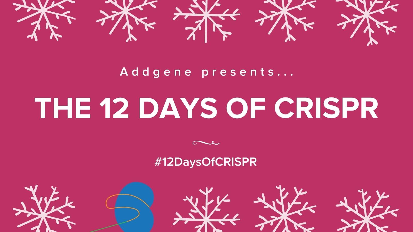 Addgene presents... the 12 days of CRISPR #12DaysOfCRISPR
